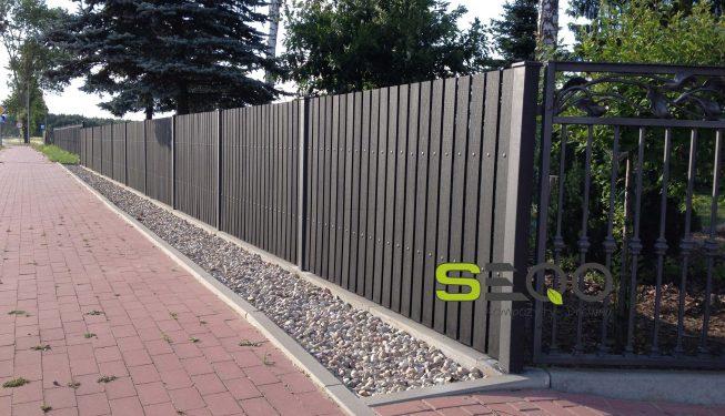 sztachety kompozytowe pełne kolor grafit Warszawa