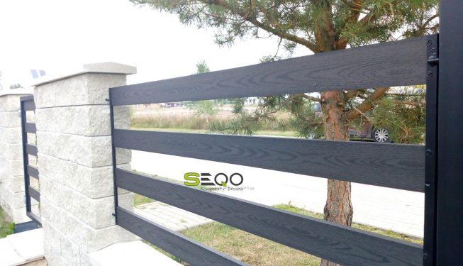 SEQO Standard sztachety kompozytowe model BB-92H20 kolor grafitowy
