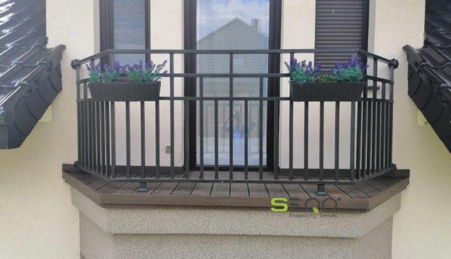 Balkon z kompozytów premium