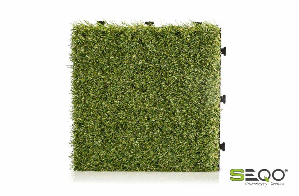 Płytki szybkiego montażu z trawą