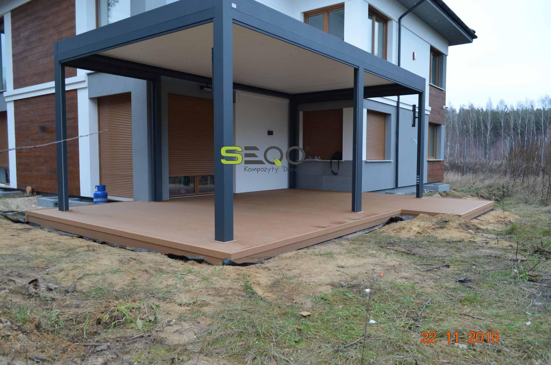 Taras i balkon z deski kompozytowych SEQO Standard