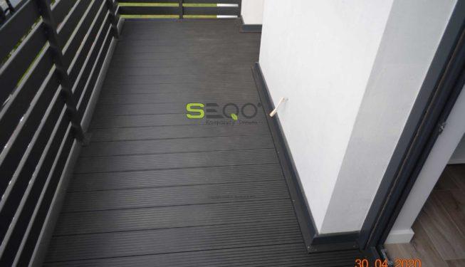 Balkon z desek kompozytowych SEQO - realizacja 184