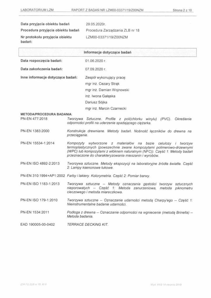 Wyniki badań Europejskiej Oceny Technicznej