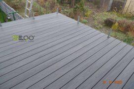 Szary balkon z kompozytów SEQO Premium